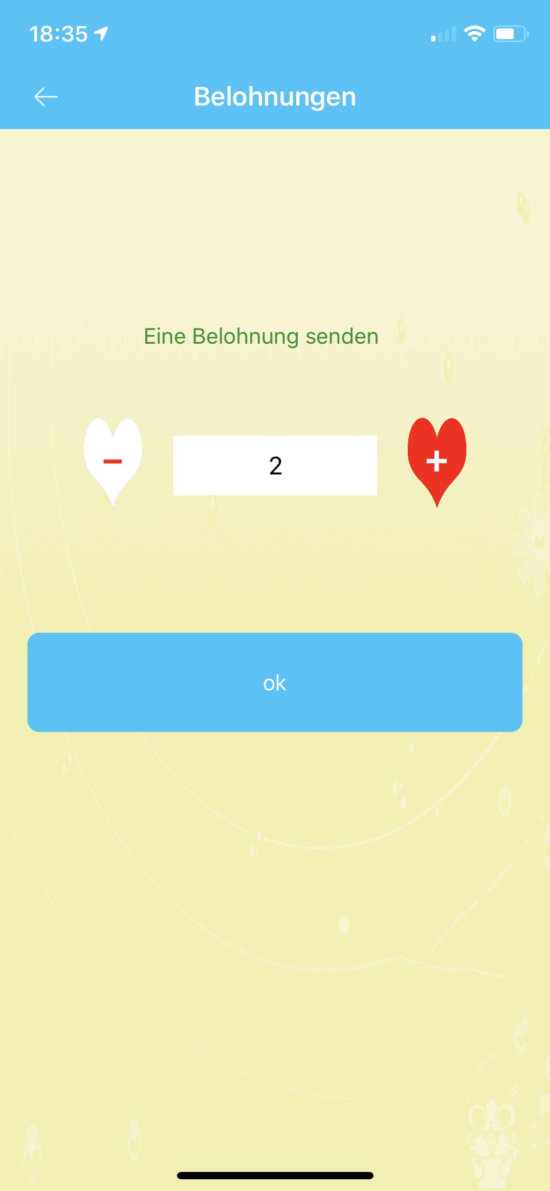 """SE-Tracker-App Belohnung """"sende ein Herz"""""""