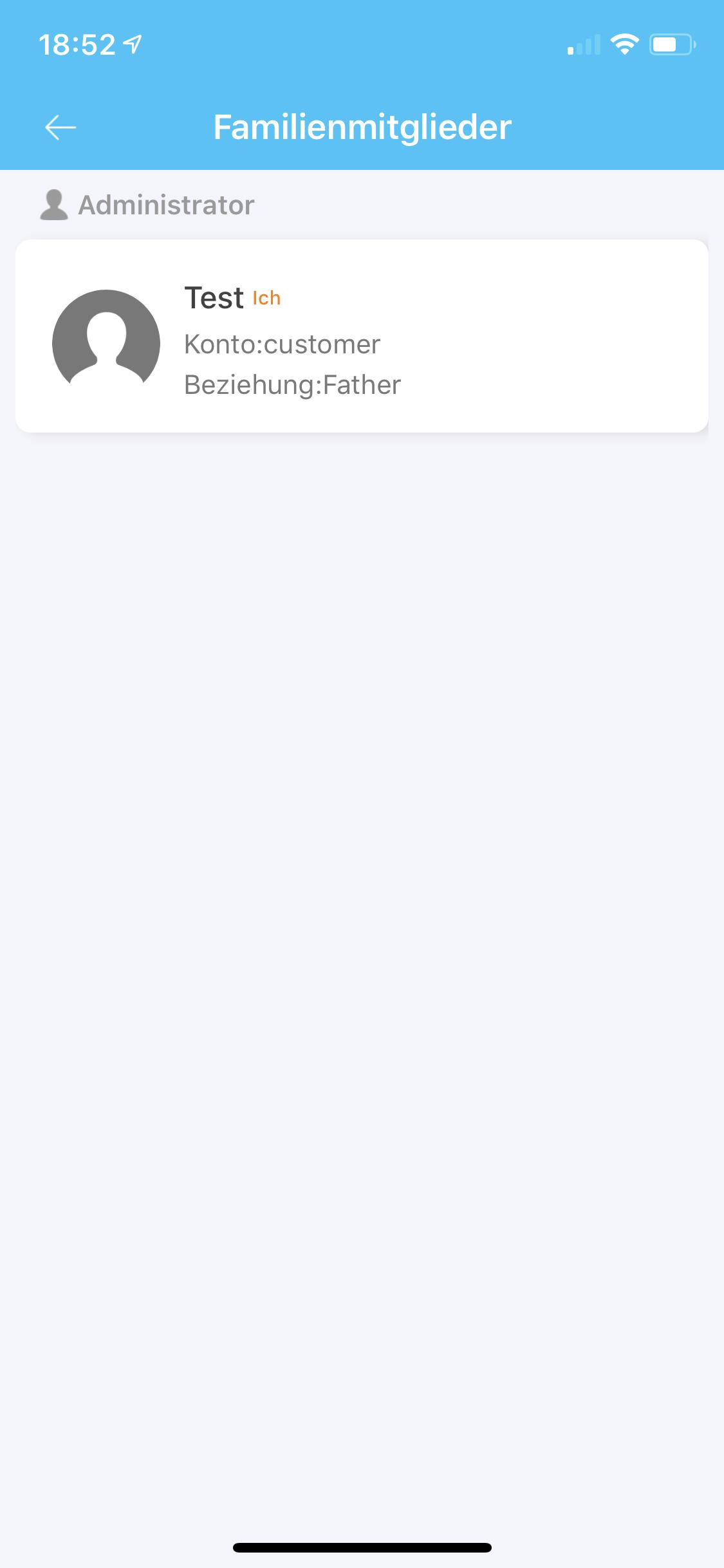SE-Tracker-App Familienmitglieder