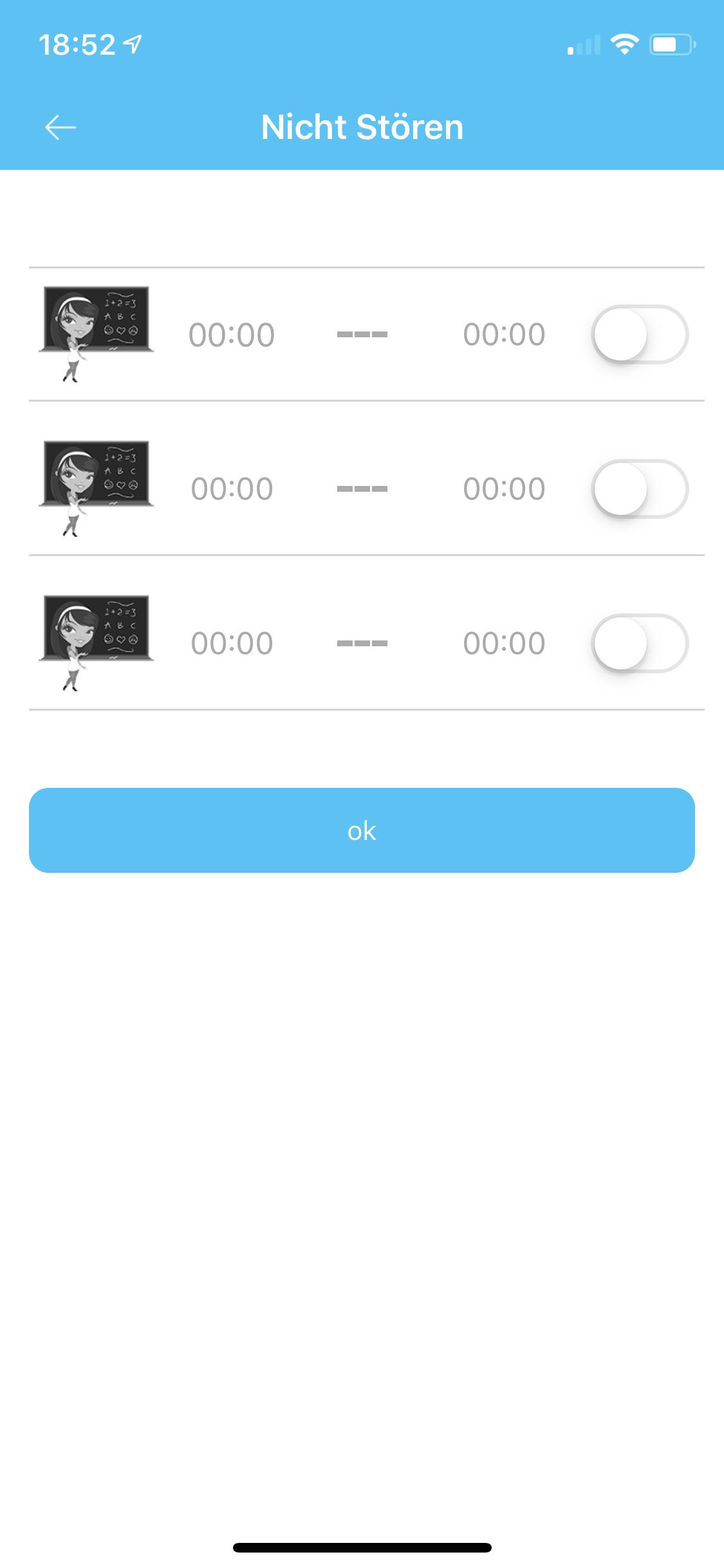 SE-Tracker-App nicht stören Funktion